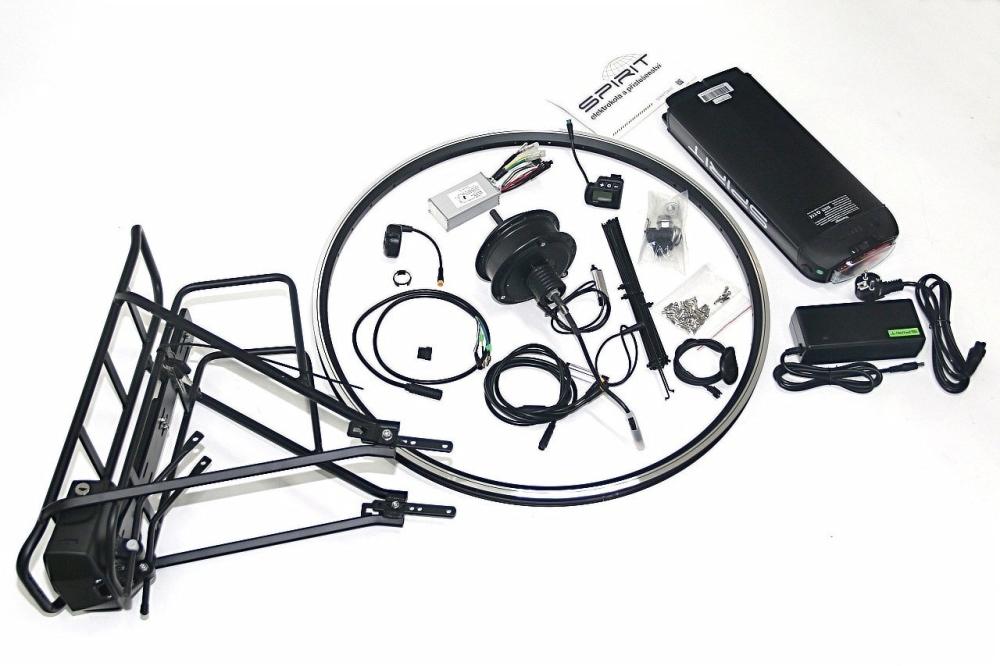 """Elektrosada 28"""", LCD, 350W zadní, 36V/15Ah nosičová baterie"""