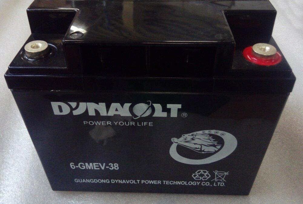 Baterie Pb, typ 6-GMEV-38, 12V/38Ah