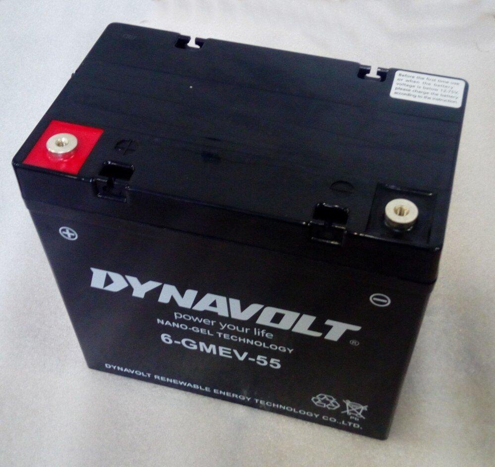 Baterie Pb, typ 6-GMEV-55, 12V/55Ah