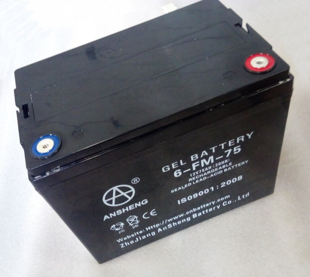 Baterie Pb, typ 6-FM-75, 12V/75Ah