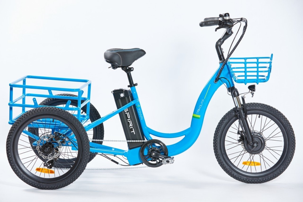 "Elektrokolo Spirit SHOPPING Max, tříkolka 20"", modrá, 18Ah /250W, 36V/"