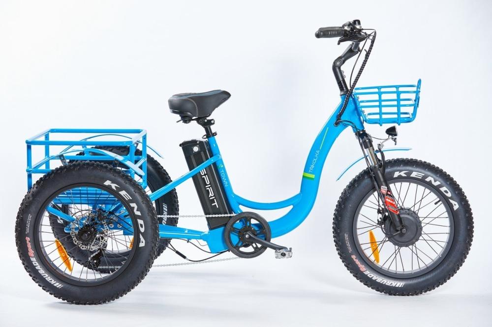"Elektrokolo Spirit SHOPPING Max, tříkolka 20"", ""fatbike"", modrá 18Ah"