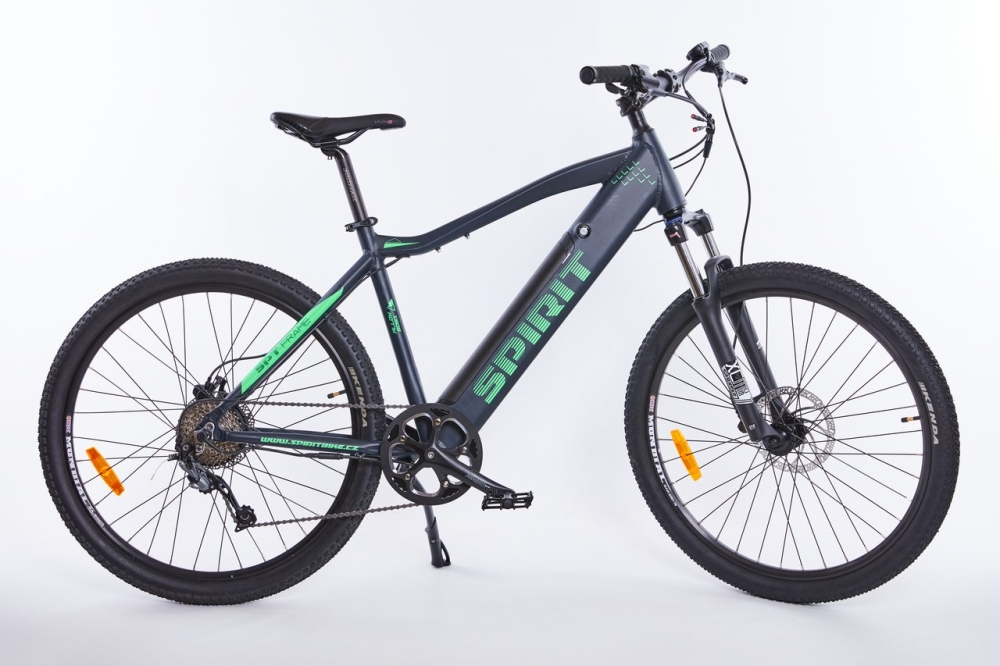 Elektrokolo MTB II 27,5 black/green, integr.bat. 13Ah