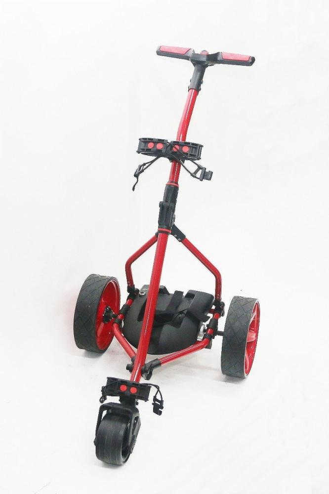 Golfový vozík elektrický - Sport red, Li-Ion12V/20Ah